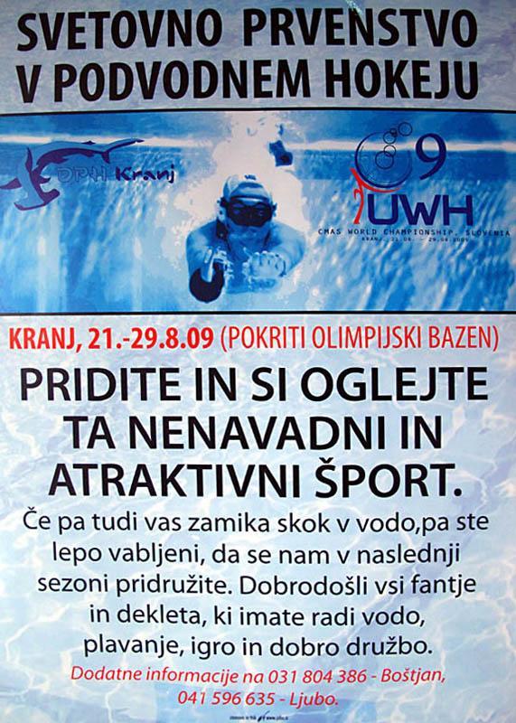 UWH2009 – Svetovno prvenstvo v podvodnem hokeju, Kranj – zaključni dan in finalne tekme