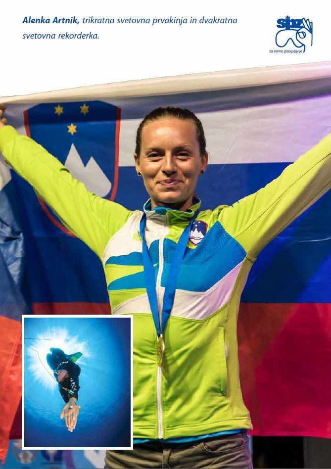ALENKA ARTNIK, svetovna prvakinja v prostem potapljanu