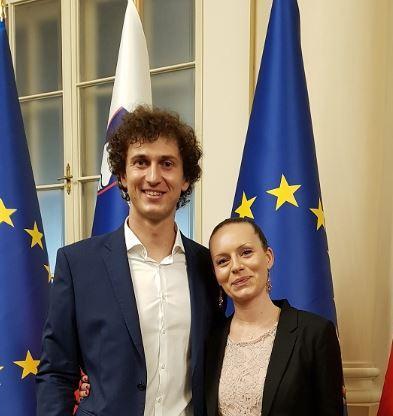 Alenka in Samo na obisku pri predsedniku države